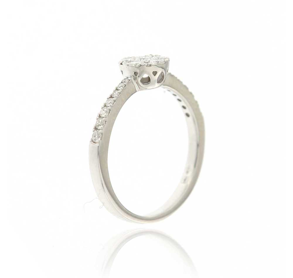 Ring wit goud met 0,47 ct briljanten