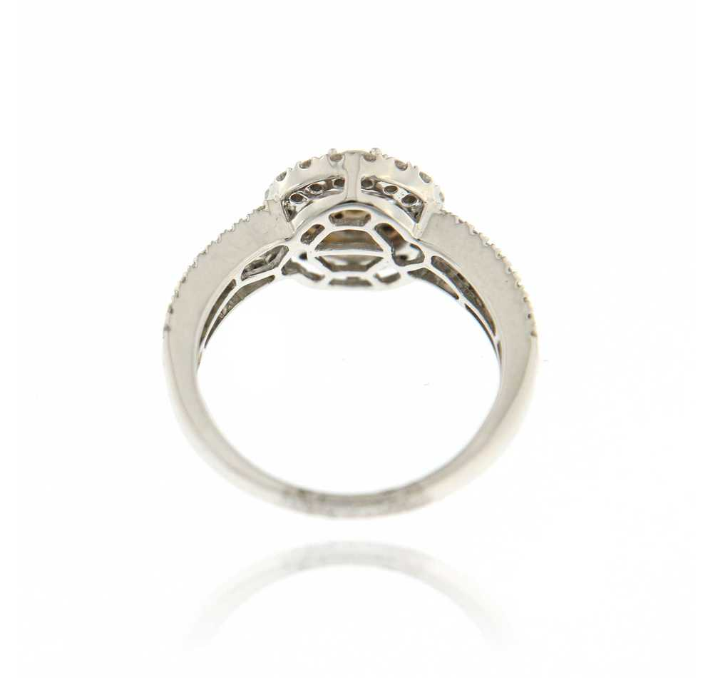 Ring illusie 1.2 ct wit goud