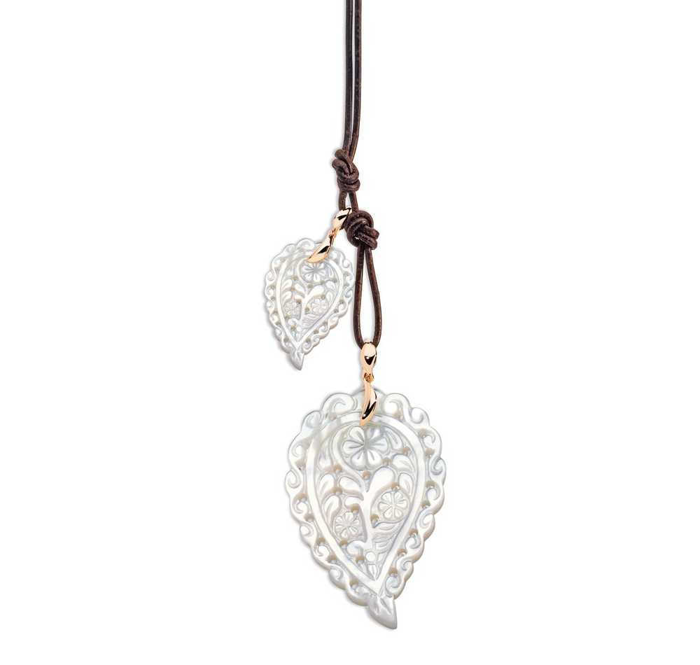 India Leaf Medium Mother-Of-Pearl