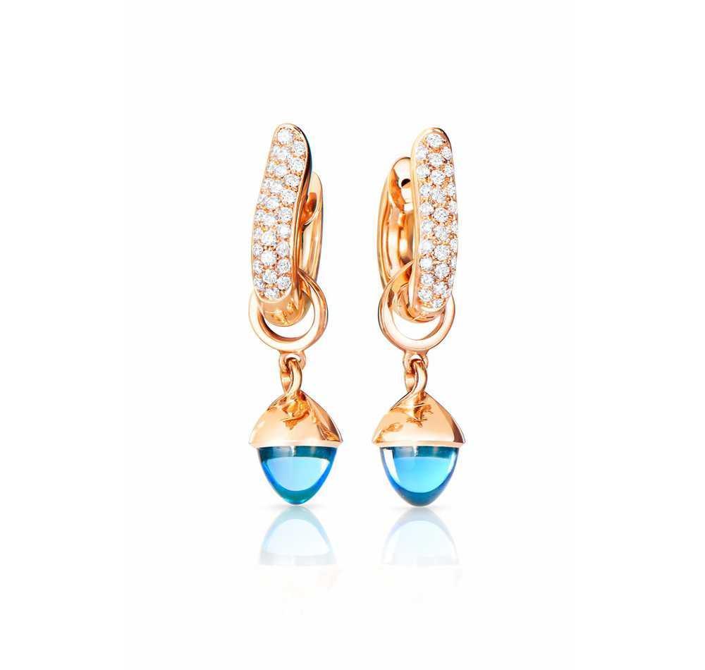 Signature Hoop Medium Earrings With Diamond Pavé