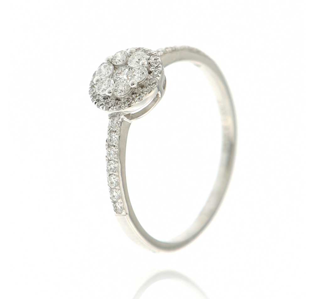 Ring rond 0.39 ct wit goud
