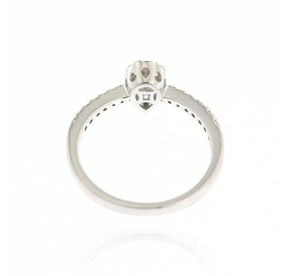 Ring peer 0.53 ct wit goud