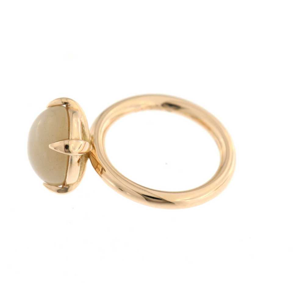 Catch Ring maansteen bruin cabochon rg
