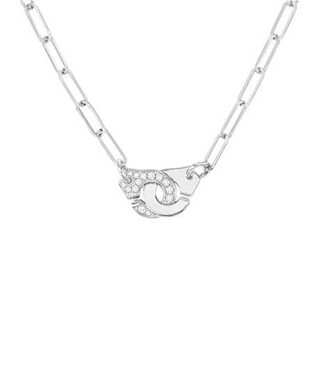 Menottes R10 necklace white gold and diamonds