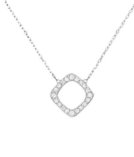 Impression small necklace white gold and diamonds