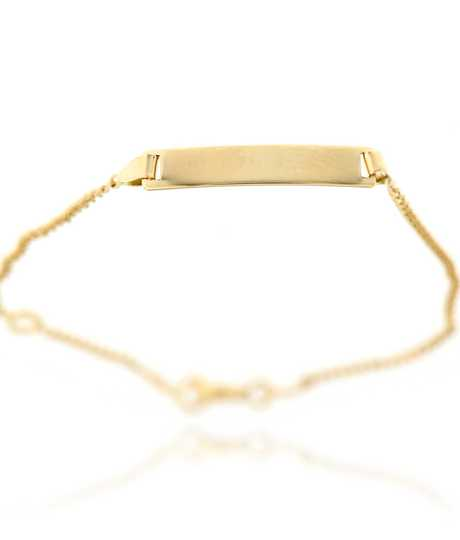 Baby armband in geel goud 18 kt