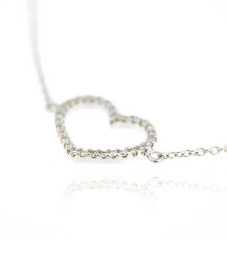 Armband hart 30 briljanten met  0.14 ct in wit goud