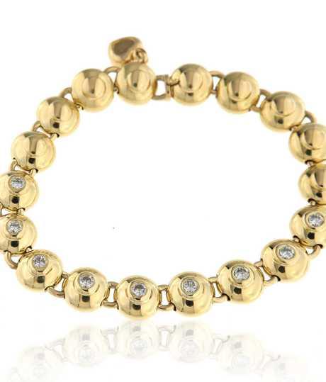 Chopard geelgouden armband met  9 briljanten