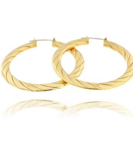 Oorbellen creolen platte ringen geel goud
