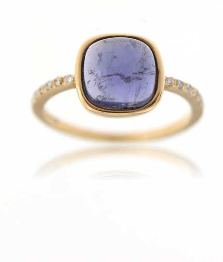 Ring ioliet cabo 0.09 ct Roze goud
