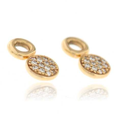 Joy oorhangers met witte diamant