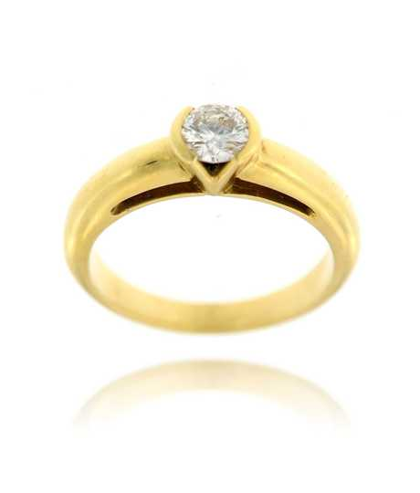 Geelgouden ring met Solitaire 0.41 ct