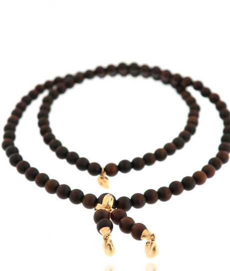 Bracelet India Snake Wood Plain Medium