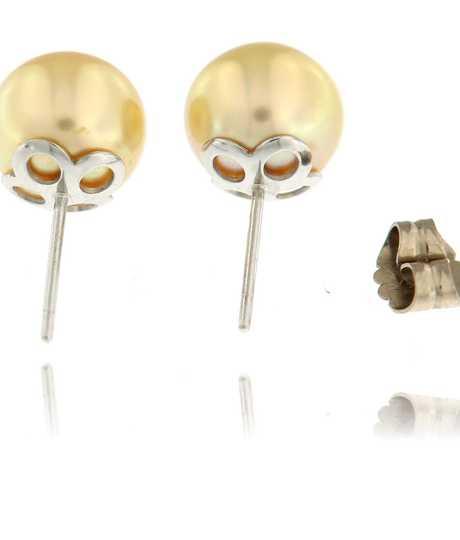 Oorbellen in wit goud met South-Sea parel 10-11 mm