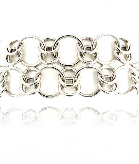 Chopard witgouden armband met cirkels