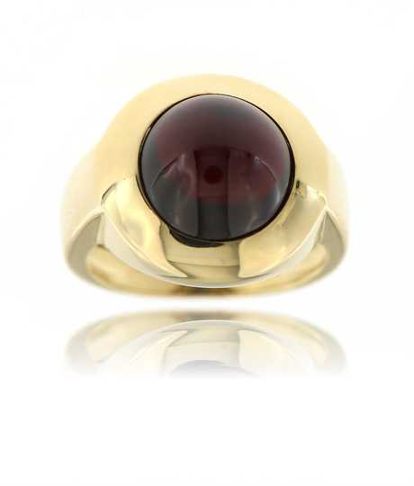 Ring granaat geel goud