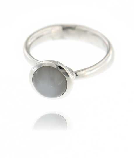 Bouton Small Ring Rainbow Moonstone