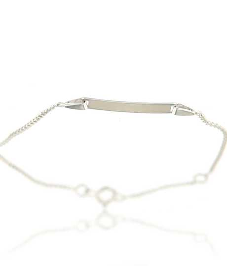 Baby armband wit goud 18 kt