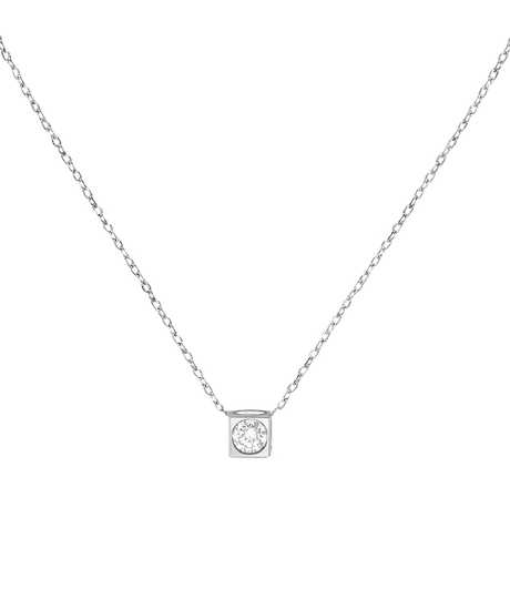 Le Cube Diamant necklace white gold and diamond