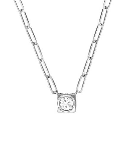 Le Cube Diamant necklace white gold and diamonds