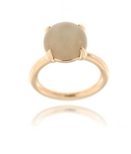 Catch Ring moonstone brown cabochon rg