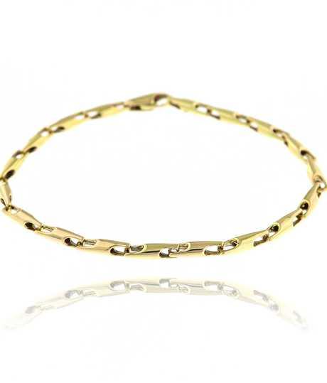 Armband kleine staafjes geel goud 18 kt