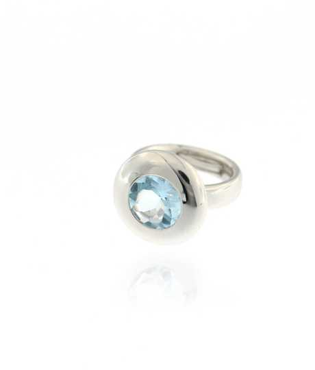 Sloppy Ring Light Blue Topaz