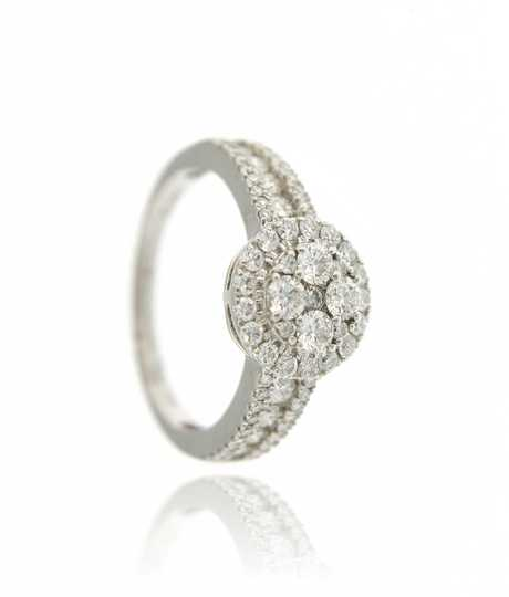 Ring white gold with  1.2 ct brilliants