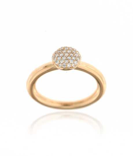 Stardust Ring Ronde tablet 37° 0.27 /G/VVS roze goud 18 kt