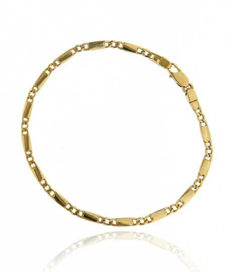 Geelgouden armband met Figaro schakels