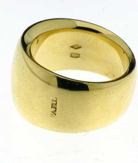 Geel gouden ring  21 gram