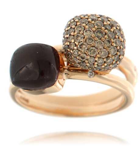 Set van 2 Bigli ringen roze goud