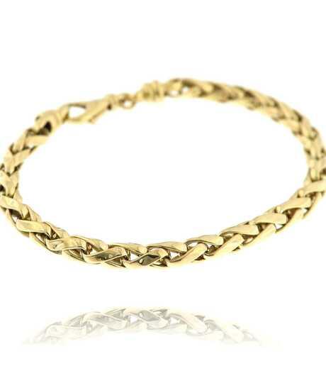 Armband geel goud holle schakel