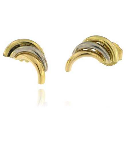 Oorbellen in tricolor goud