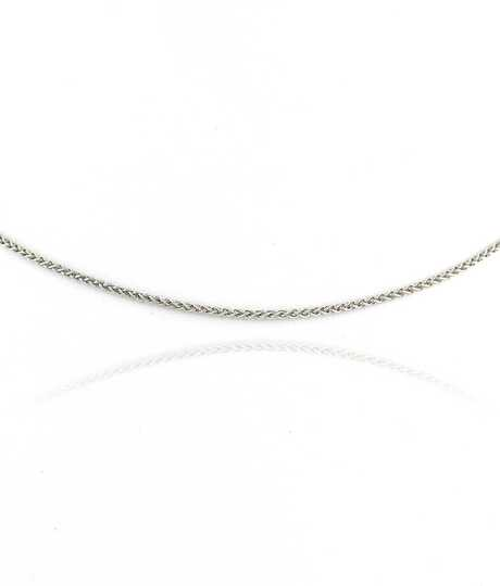 Plait Chain White Gold