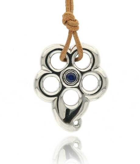 Pendant Gypsy Flower With Sapphire