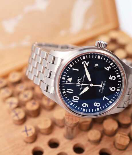 Pilot's Watch Mark XVII automatic steel / black