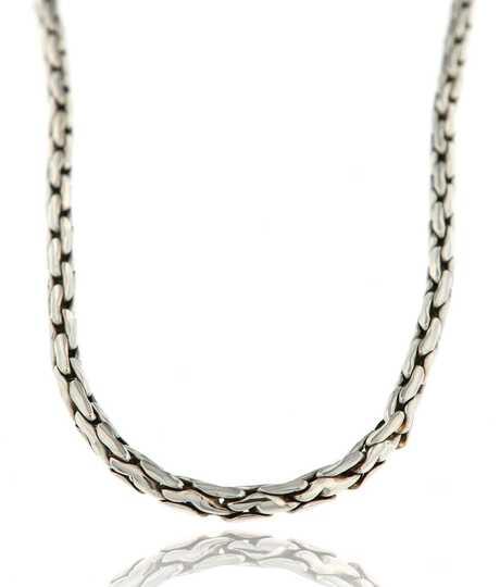 Witgouden halsketting Cobra