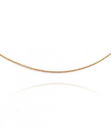 Halsketting forçat roze goud