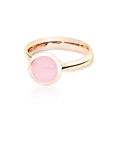Bouton Ring Small Pink Chalcedony