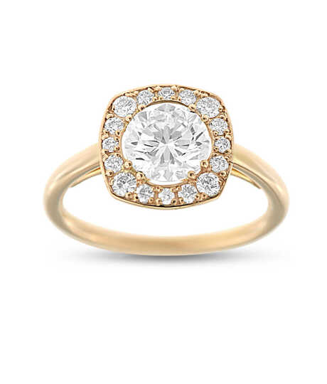 Roze gouden ring met Solitaire 1.29 ct