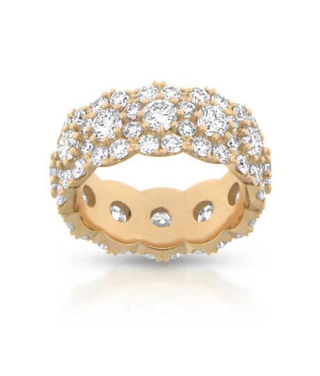 Roze gouden ring  met 84 briljanten