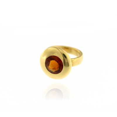 Sloppy Ring Orange Citrine