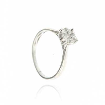 Ring rond 0.23 ct wit goud