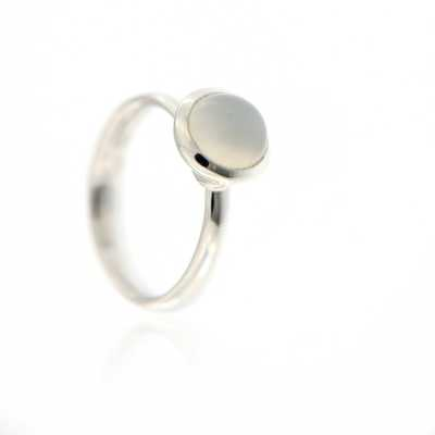 Bouton Small Ring Rainbow Moonstone